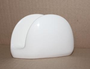 Салфетница полукруглая фарфоровая