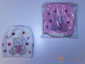 Детская шапка для девочки от 5 до 10 лет арт.0012