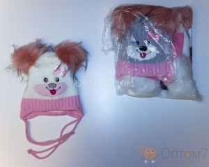 Детская шапка для девочки на 1-2 года арт.0015