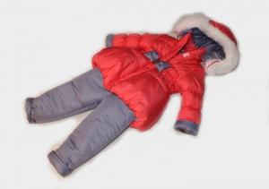 Зимний костюм для девочки р.1,2,3,4, плащевка. Украина. арт.1137