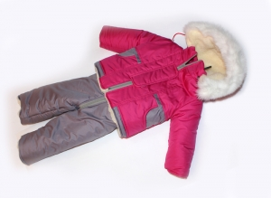Зимний костюм для девочки, плащевка. Украина. арт.1158