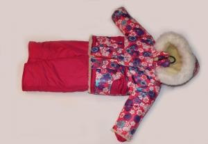 Зимний костюм для девочки, плащевка. Украина. арт.1164
