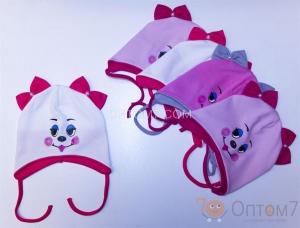 Детская шапка для девочки до 1,5 года арт.0012