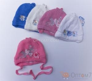 Детская шапка для новорожденного арт.0047