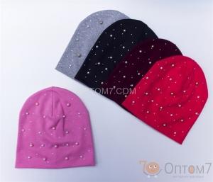 Детская шапка для девочки от 8 до 12 лет арт.0049