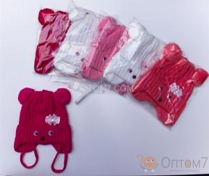Детская шапка для девочки от 3 до 3,5 лет арт.0050