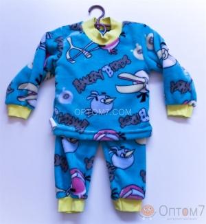 Пижама детская махровая от 1,5 до 6 лет арт.0015