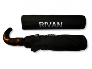 Зонт мужской полуавтомат RIVAN, 9 спиц, 3 сложения