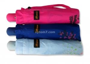 Зонт женский полуавтомат BOSTAN - 215, 10 спиц, 3 сложения, фототкань