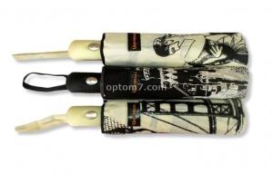 Зонт женский полуавтомат UNIVERSAL - M53, 10 спиц, 3 сложения
