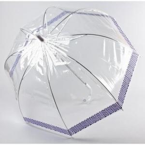 Зонт-трость женский полуавтомат, 8 спиц, прозрачный