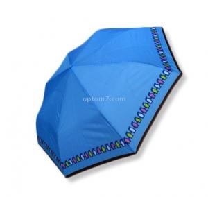 Зонт подростковый однотонный, механика, 8 спиц, 3 сложения