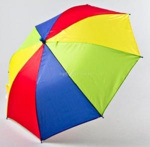 """Зонт трость детский """"Радуга"""" для самых маленьких, полуавтомат"""