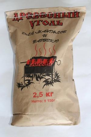 Уголь древесный, 2,5 кг Украина